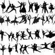 Big collection of ballet dancers — Stock Vector
