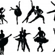 Ballet collection — Stock Vector