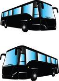Autobus silhouette — Stock Vector