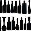 Bottle collection — Stock Vector