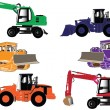 Royalty-Free Stock Vector Image: Construction machines collection