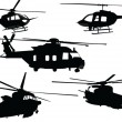 Stock Vector: Helicopter collection