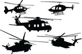 Helicopter collection — Stock Vector