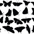 Vector de stock : Butterfly silhouette collection