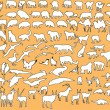 Royalty-Free Stock Vectorafbeeldingen: Mix animal silhouette