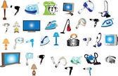 Home appliances big collection — Stock Vector