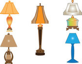 Lamp collection — Stock Vector