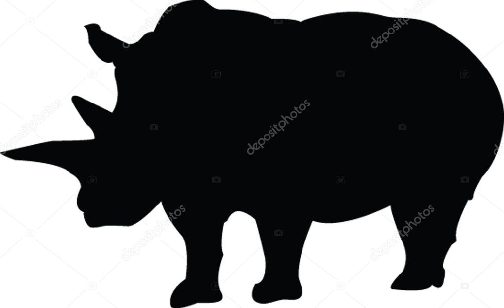Displaying (20) Gallery Images For Rhino Silhouettes...
