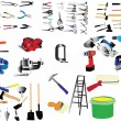 Royalty-Free Stock Vector Image: Tools illustration collection