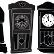 Stock vektor: Chiming clocks collection