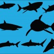 Stock Vector: Sharks collection