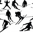Skiing collection — Stock Vector