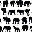 Elephant collection — Stock Vector