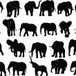 Elephant collection — Stockvectorbeeld