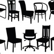 Royalty-Free Stock Imagem Vetorial: Chair illustration collection