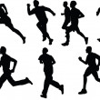 Collection of running — Stock Vector #2179776