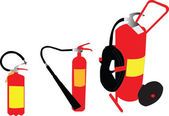 Illustration of fire extinguisher — Stock Vector