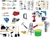 Kolekcja narzędzi ilustracja — Wektor stockowy