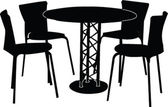 Table and four chairs — Stock Vector