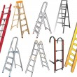 Stock Vector: Ladders collection