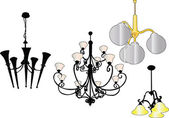 Chandelier collection — Stock Vector