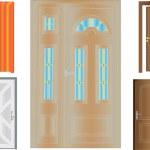 Doors collection — Stock Vector