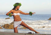 Polynesian Dancer — Stock Photo