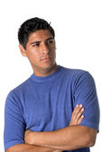 Male Model in Blue T-Shirt — Stock Photo
