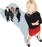 Powerful businesswoman — Stock Vector