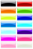 Glass rectangular buttons — Stock Vector