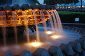 Pineapple Fountain in Charleston, SC — Stock Photo