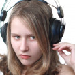 Young Woman with headphones — Stock Photo #2082325