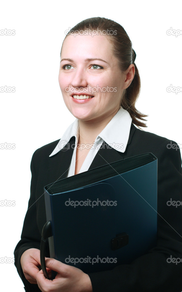 Successful businesswoman with a folder in the hands  Stock Photo #2080708