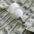 Royalty-Free Stock Photo: Lamp on dollars