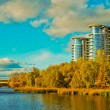 Stock Photo: Building on coast of river in Kiev
