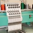 Textile: Industrial Embroidery Machine - ストック写真