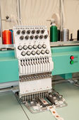 Textile: Industrial Embroidery Machine — Stock Photo