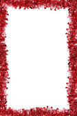 Frame from a red tinsel. — Stock Photo