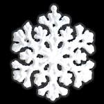 White snowflake isolated. — Stock Photo #2331630