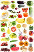 Set fruit, vegetables isolated — Stock Photo