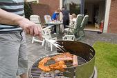 Mięso i szaszłyki na grilla. — Zdjęcie stockowe