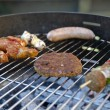 Barbeque party with family — Stock Photo #2125465