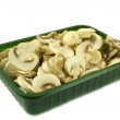 Sliced champignon mushrooms — Stock Photo #2125855