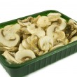 Sliced champignon mushrooms — Stock Photo #2125880
