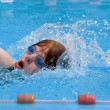 Stock Photo: Swimming during a competition
