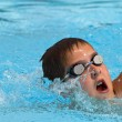 Swimming during a competition — Stock Photo
