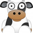 Stock Vector: Cartoon Cow With Big Eyes - Chinese New