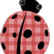 Ladybug with patchwork red shell vector — Stock Vector