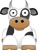 Cartoon Cow With Big Eyes - Chinese New — Stock Vector