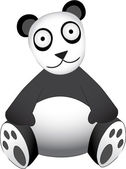 Panda Bear sitting — Stock Vector